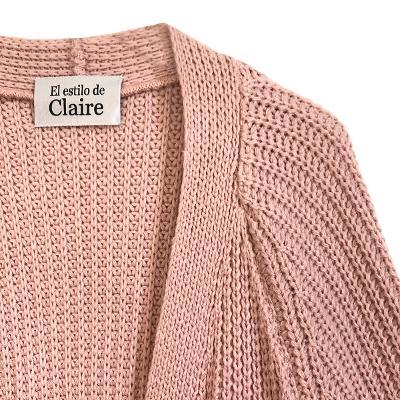 knit cardigan pink